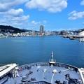 写真: 艦橋からの長崎
