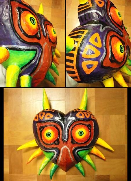 ムジュラ3DSと聞いて前に作ったムジュラの仮面の画像を引っ張り出してきたよ!