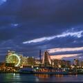 写真: 夏夜?濱港