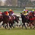 Photos: イスラボニータが馬群を割る!