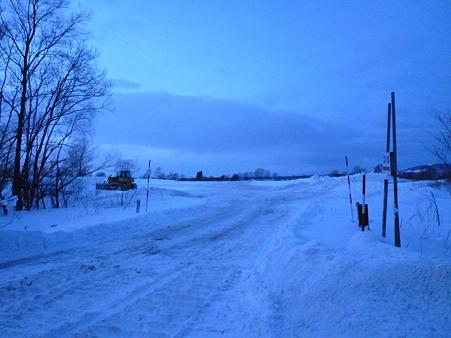 ろっ路面が凍ってきた