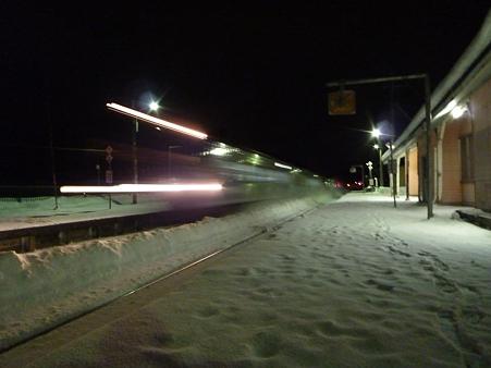 駅と電車....