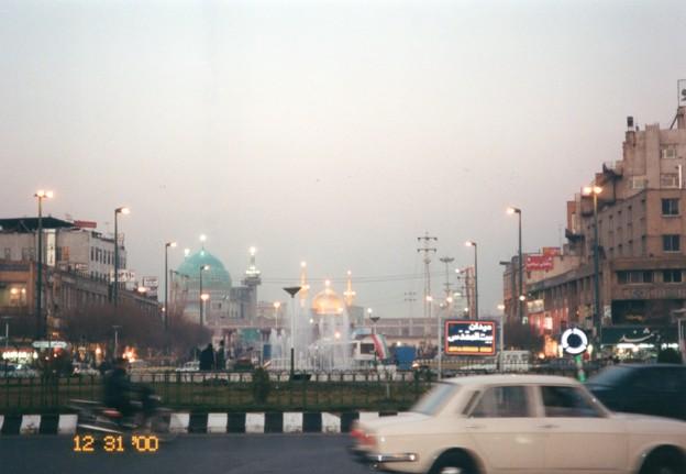 イラン 聖地マシュハドの夜景 Night view in Mashhad,Iran