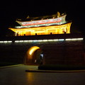 曲阜の城門の夜景  Night View of castle gate in Qufu