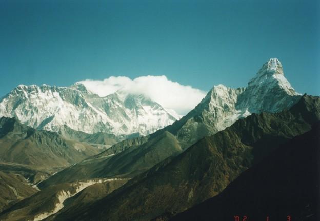 4500mから望むアマダブラムとエベレスト Ama Dablam & Everest