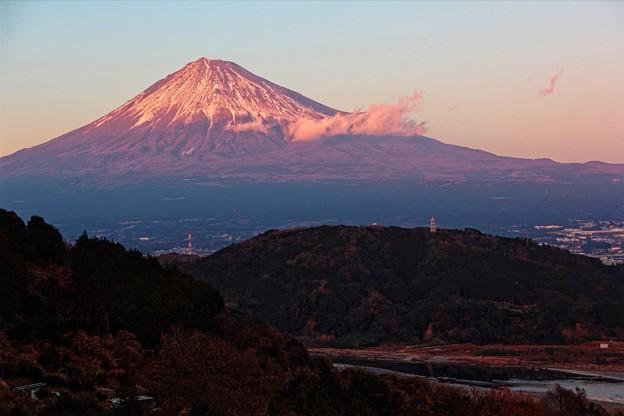 12月30日富士川SA付近からの夕方富士山~ いい眺めです!