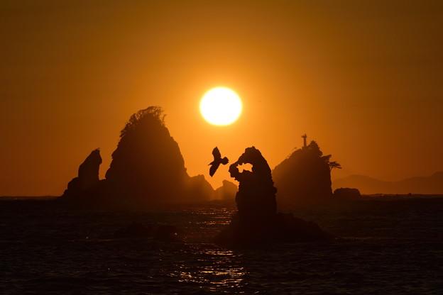 田子海岸の夕日