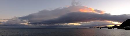 二見浦パノラマ03 12月朝6:55 おごそかで美しい