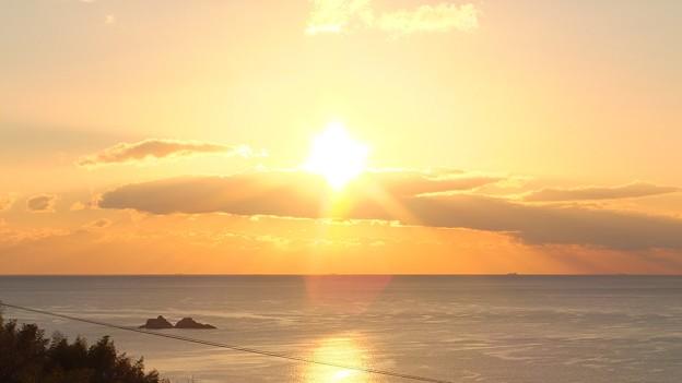 かんぽの宿熊野 12月朝陽7:19