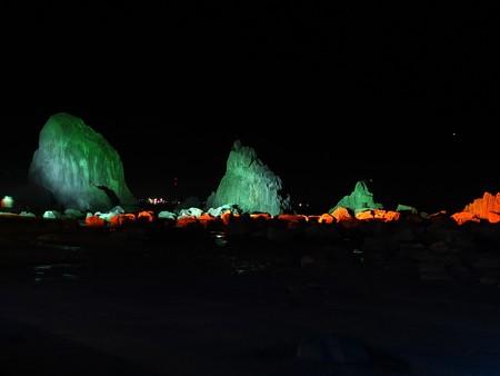 奇勝 橋杭岩ライトアップ05