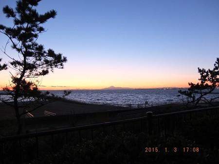 幕張の浜~20150103-09 富士山と松
