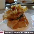 栗粉のクレープリコッタチーズポルチーニ茸