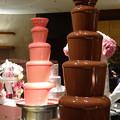 写真: 憧れのチョコレートファウンテン