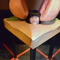 写真: 桃から生まれたテンちゃん