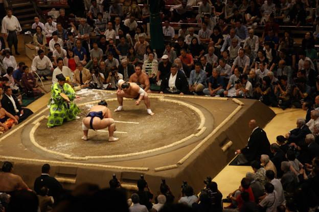 写真: 日馬富士の仕切り