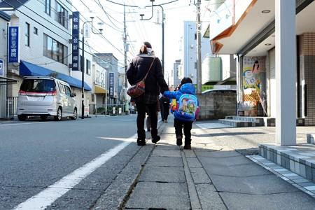 2014.12.28 駅道 姪の家へ向かう朝