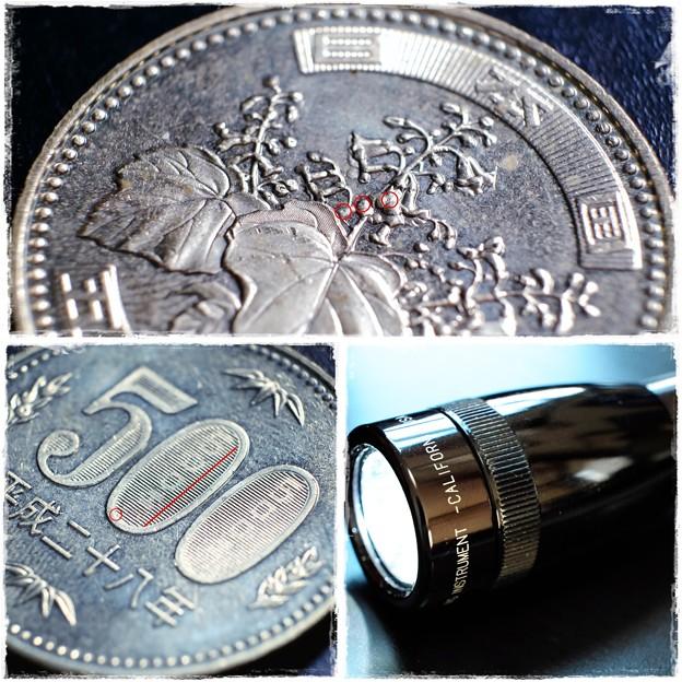 写真: 2017.05.18 机 500円硬貨 NIPPON