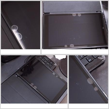 2017.11.08 机 Touching FIRE HD 10 2017強化ガラス液晶保護フィルム 気泡
