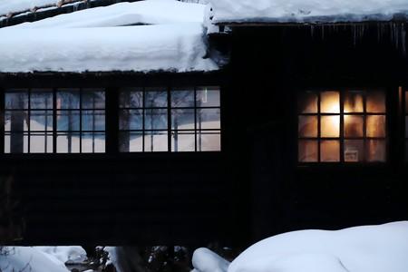 2018.01.22 鶴の湯 宿泊者用内湯と渡廊下