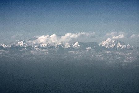 2010.01.30 機上 ヒマラヤ山脈?