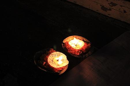 2010.02.01 バナーラス ガート 流し灯篭
