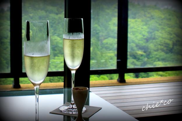 写真: ウェルカム シャンパン。。