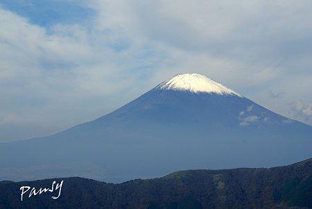 大涌谷からの富士山・・