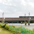 ピンクの鉄橋~阪急電車~