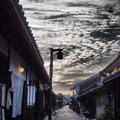 写真: 町屋の夕暮れ