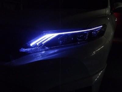 ハリアー60系 東京都 ヘッドライト加工 スモールLED打ち替え後