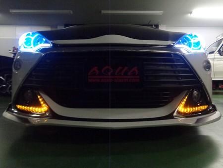 トヨタAQUA G's デイライト 2色LED加工 オレンジ