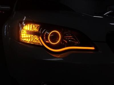 アウトバック 東京都 ヘッドライト加工 イカリング&NEWアウディ風LED オレンジ