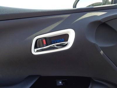 プリウス インナードアハンドルカバー4点セット カーボンシート ZVW50ロゴ
