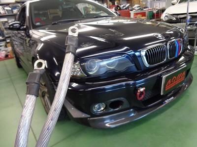 BMW M3 群馬県 ノンレジケーブル取付