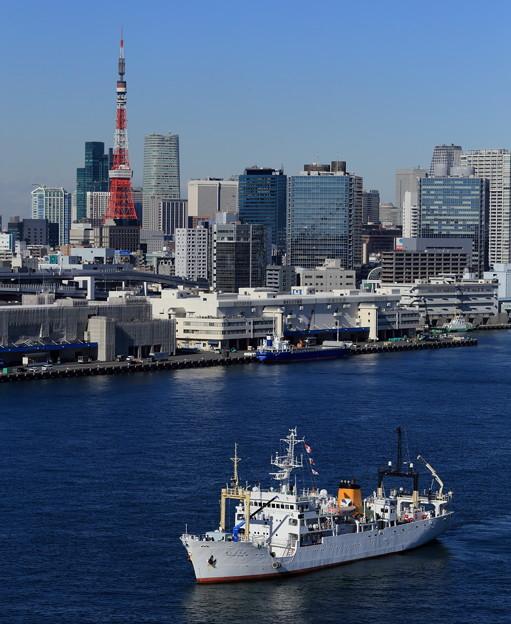 北海道大学練習船「おしょろ丸」(IV世)東京出港~2013.12.24