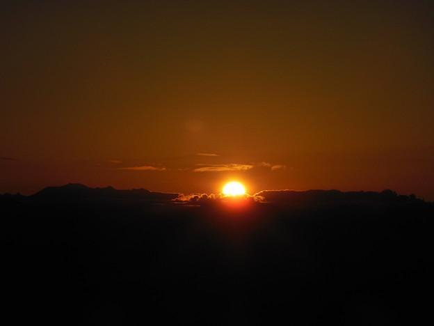 '17秋旅 アルプスに沈む夕陽