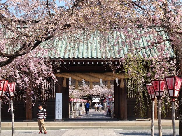 写真: 総門の向こう側
