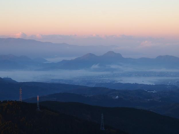 田方平野の朝靄