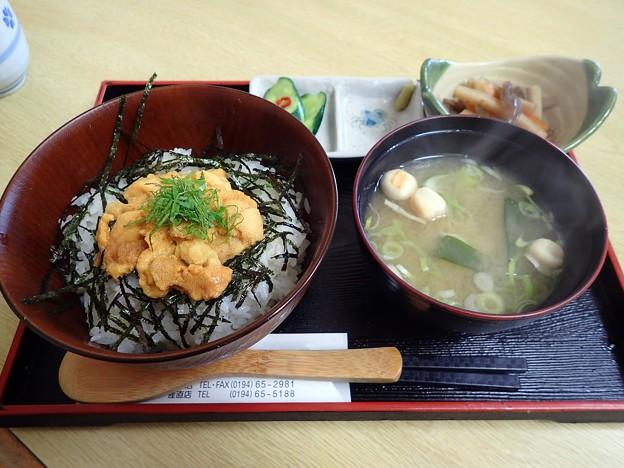 生うに丼@はまなす亭たねいち産直店・岩手県洋野町