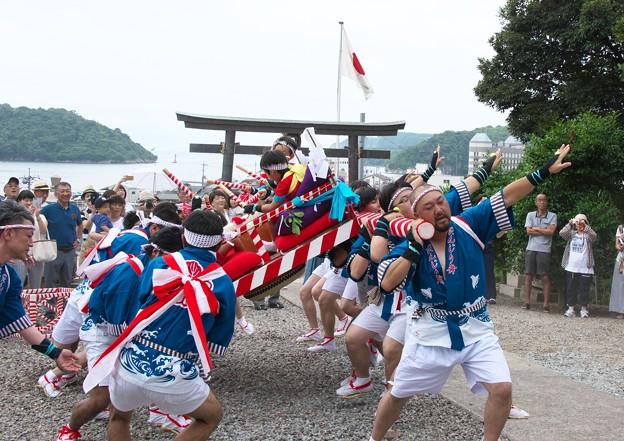 御崎神社祭り(5)だんじり舞い H29,7,28