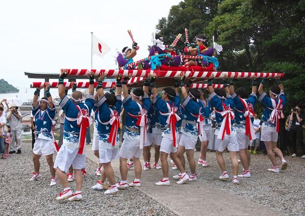 御崎神社祭り(7)だんじり舞い H29,7,28