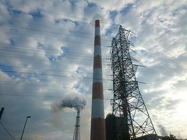 写真: 10月13日(金)の煙突