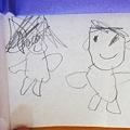 写真: 体つきの男の子と女の子