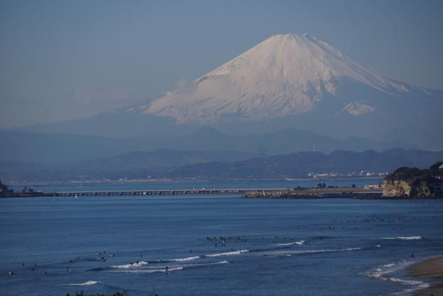 写真: 世界遺産の富士山!
