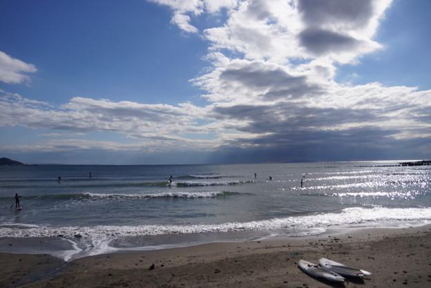 今日の由比ヶ浜の海201501