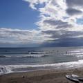 写真: 今日の由比ヶ浜の海201501