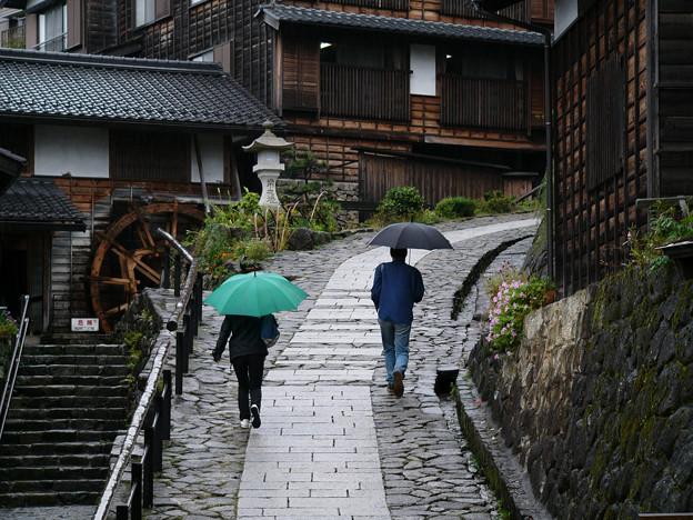 雨の石畳(馬籠)【蔵出し】