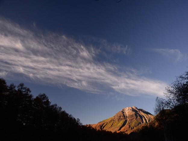 朝雲と焼岳