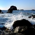 Photos: 海金剛 雷公神社 前の浜-1