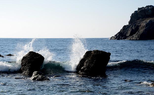 海金剛 雷公神社 前の浜-2